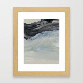 minimal brushstrokes 1 Framed Art Print
