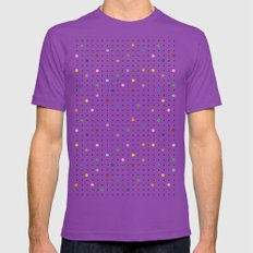 Pin Points Repeat LARGE Mens Fitted Tee Ultraviolet