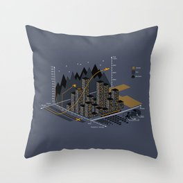 Stat City Throw Pillow