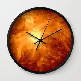Golden Copper Orion Nebula Wall Clock