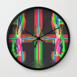 Neon Circuitry Wall Clock