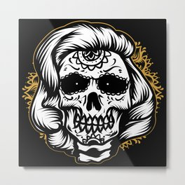 Marlyn skull Metal Print