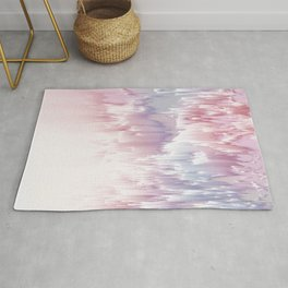 Falling Shades of purple and pink Glitch pattern Rug