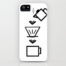 Coffee Black and white iPhone Case