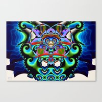 hindu Canvas Prints featuring Shiva (Hindu) by Jim Pavelle