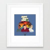 gta Framed Art Prints featuring GTA 8.............BIT by A. Jones