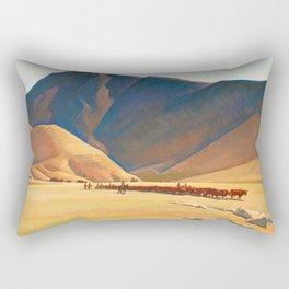 High Hills of Tehachapi, 1936 by Maynard Dixon Rectangular Pillow