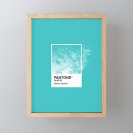 PANTONE SERIES – SPLASH Framed Mini Art Print