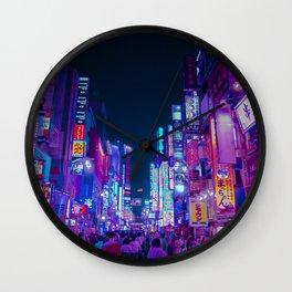 Neon Streets - Neon Tokyo Series Wall Clock