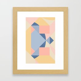 E – V Framed Art Print