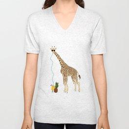 Cool Giraffe Unisex V-Neck