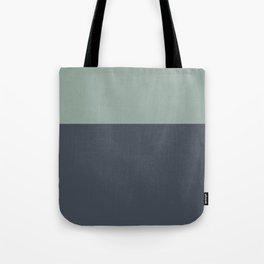 Navy Gray Blue Green Sage Minimalist Color Block Tote Bag