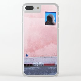 Moroccan Wall Clear iPhone Case