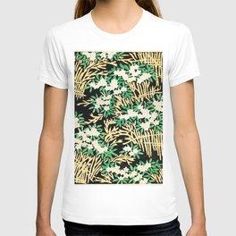 Watanabe Seitei - Flower Bed - Japanese traditional pattern design T-shirt