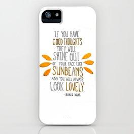 Sunbeams iPhone Case