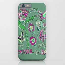 """""""Spring Melee"""" iPhone Case"""