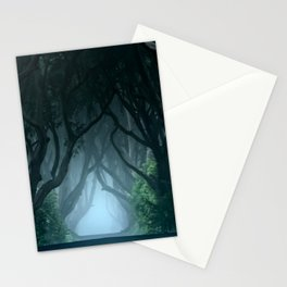 Cold foggy morning in Dark Hedges Stationery Cards