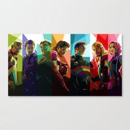 WPAP Avenger - Iron Man, Cap America, Thor, Black Widow, Hulk, Nick, Clint Canvas Print