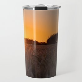 North German windmill from old time in the sunset Travel Mug