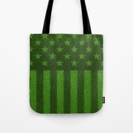 The grass and stripes / 3D render of USA flag grown from grass Tote Bag