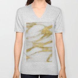 Bari golden marble Unisex V-Neck