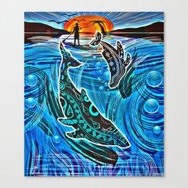 Whales Tale Canvas Print