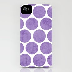 purple polka dots Slim Case iPhone (4, 4s)