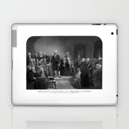 Washington Delivering His Inaugural Address Laptop & iPad Skin
