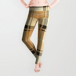 Gold Tartan Leggings