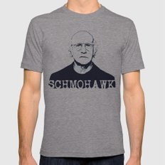 Schmohawk  |  Larry David   Mens Fitted Tee LARGE Tri-Grey