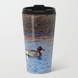 Green-winged Teal Drake Travel Mug
