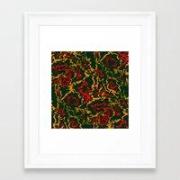 rasta Framed Art Prints featuring Rasta Time... by Cherie DeBevoise