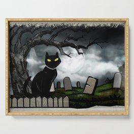 Hallows Halloween Horror Folk Art Serving Tray