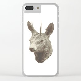 Animalistic city living Clear iPhone Case