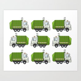 Garbage Truck Art Print