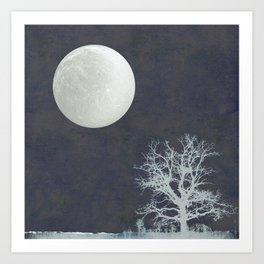 With that Moon Language Art Print
