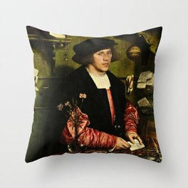 Hans Holbein  - Portrait of Georg Giese Throw Pillow