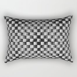 Edgy Checker (in shades of grey) Rectangular Pillow
