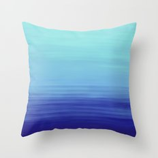Ocean Ombre Painting Throw Pillow
