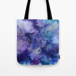 Abstract Watercolor and Ink Tote Bag