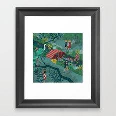 Ukiyo-e tale: The beginning of the trip Framed Art Print