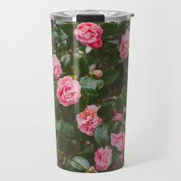 Pink Camellias Travel Mug