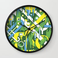 brazil Wall Clocks featuring Brazil by Roberlan Borges