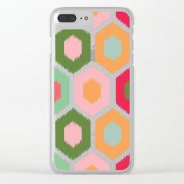 ikat honeycomb tutti fruit #homedecor Clear iPhone Case