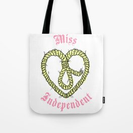 Miss Independant Tote Bag