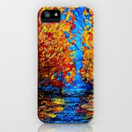 Autumn Trees at Twilight iPhone Case