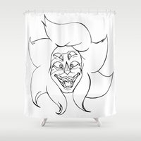 malachite Shower Curtains featuring We're Malachite Now by Josette