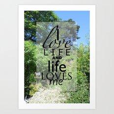 Life is just Art Print