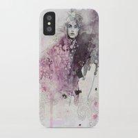 fashion illustration iPhone & iPod Cases featuring FASHION ILLUSTRATION 15 by Justyna Kucharska
