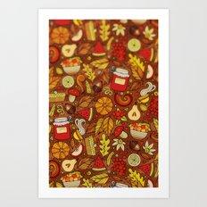 Pattern of home Art Print